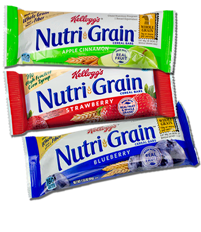 Our Main Fruit Flavors Of Nutrigrain Bars Cereal